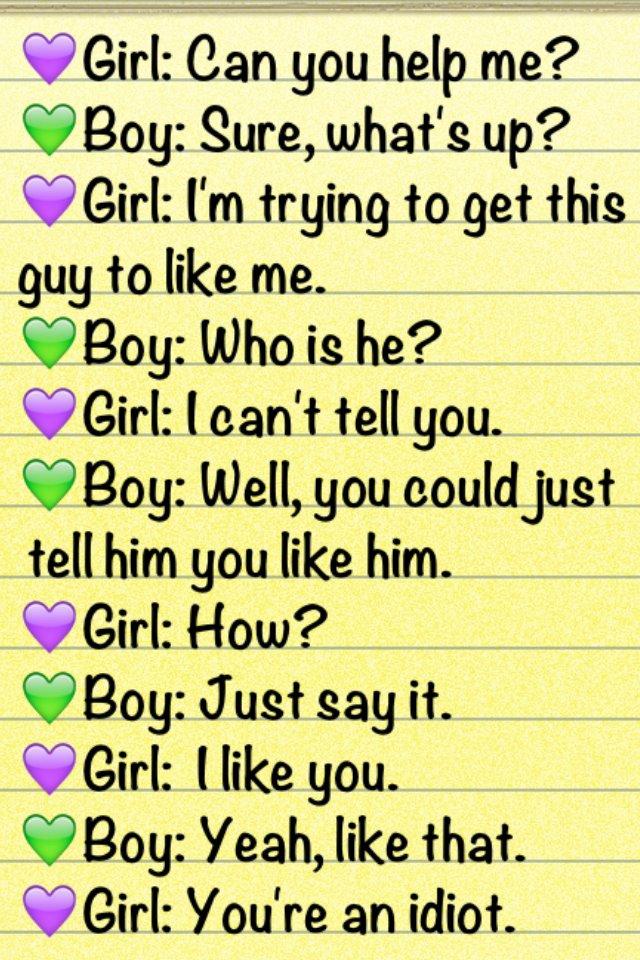 Things to say to girl you like