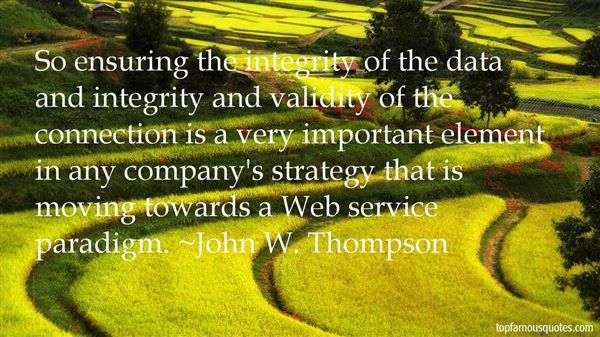 Quotes about Data integrity (18 quotes)