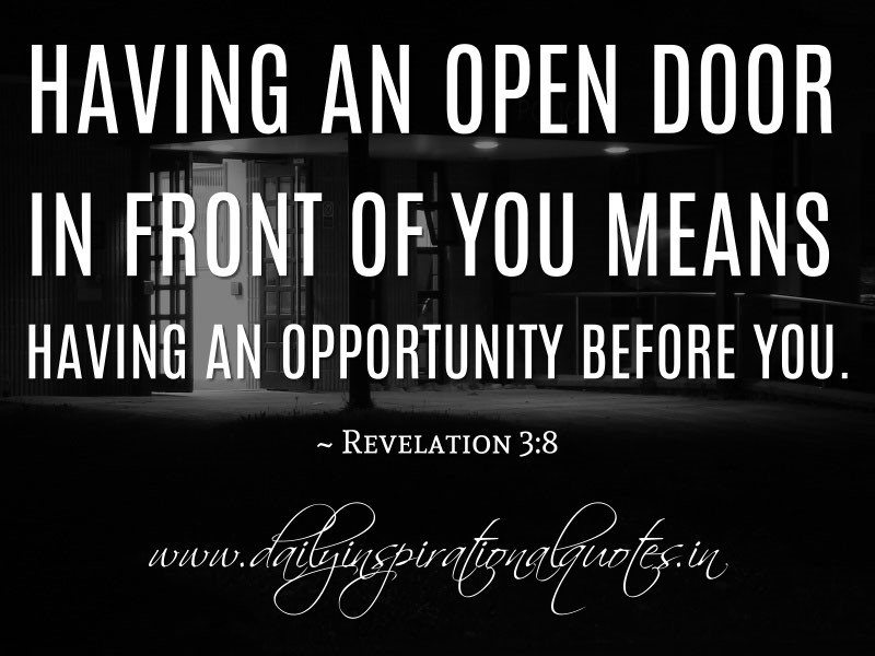 Quotes About Open Doors 60 Quotes Awesome Open Door Quotes