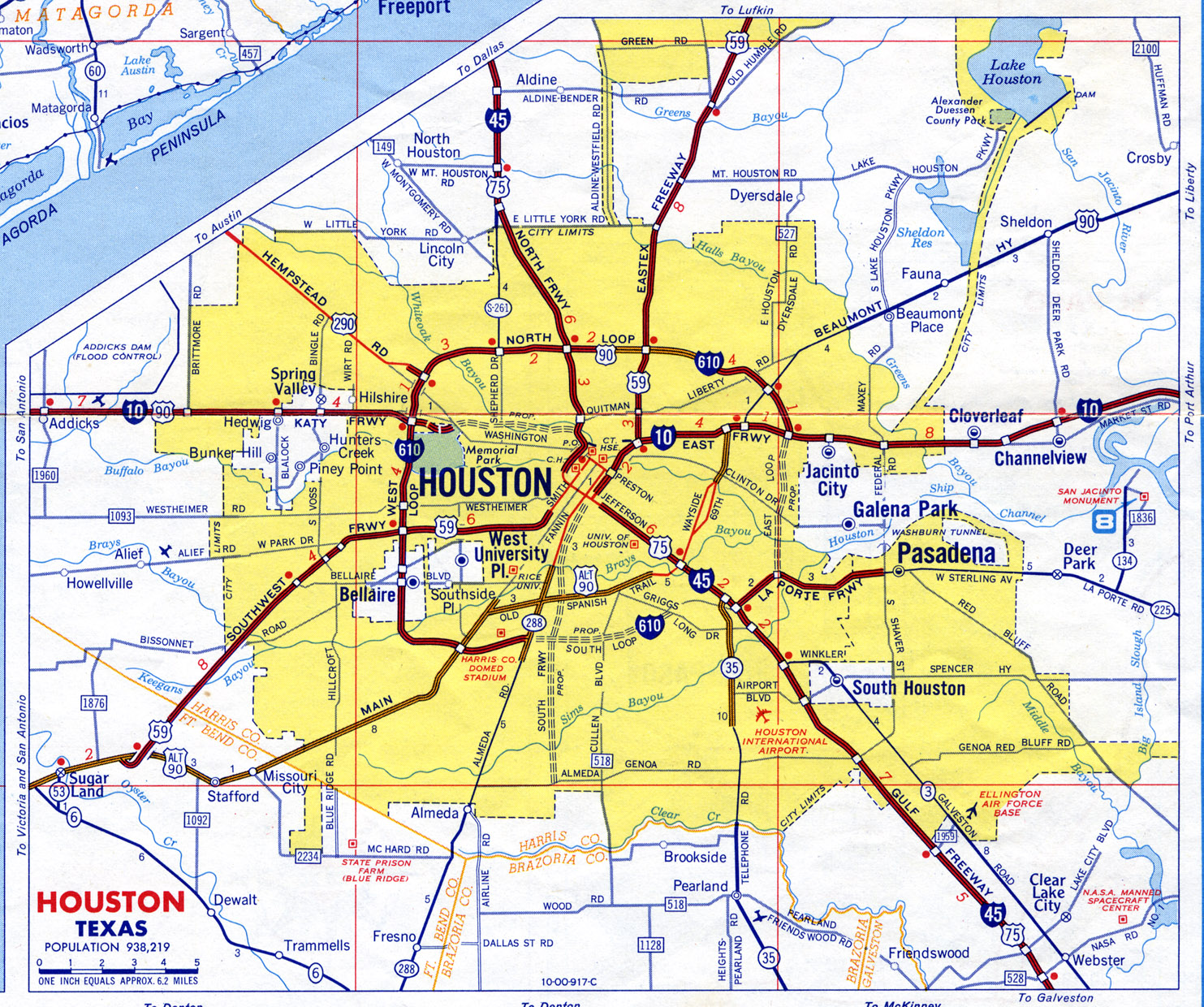 List of Synonyms and Antonyms of the Word: houston city map