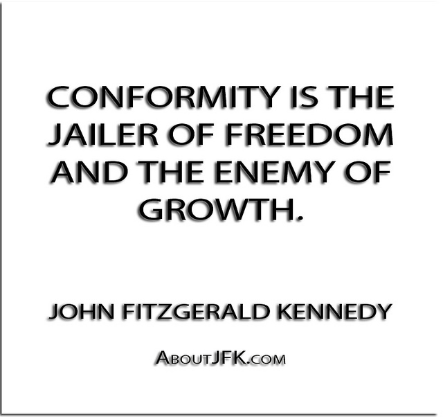 """non conformism is the refusal to conform """"the simplistic way of not conforming is to see what is in style in the extreme case of this may be seen in groups that refuse to wear buttons or use."""