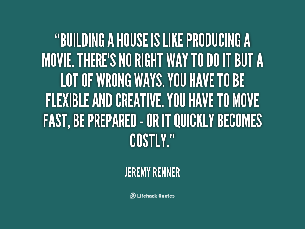 building a house quotes