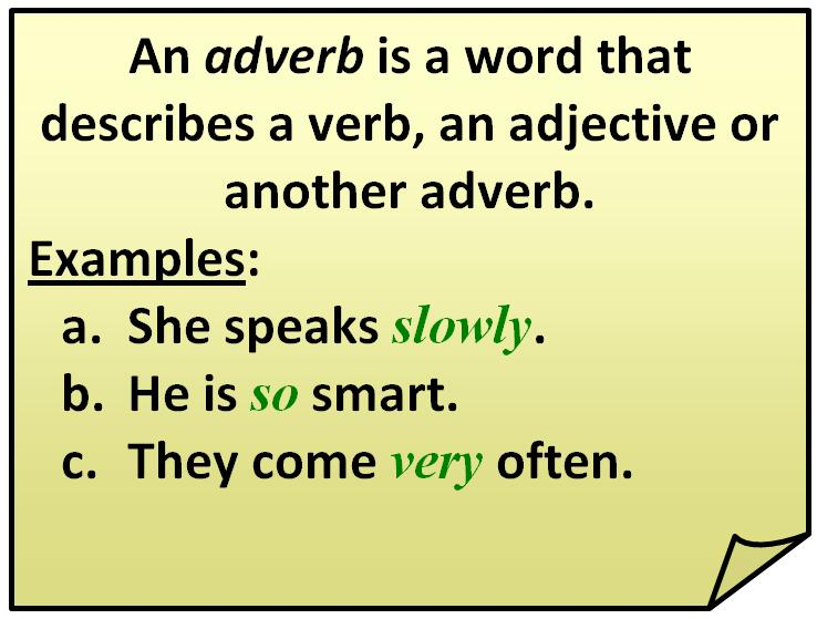 Quotes About Adverbs 48 Quotes