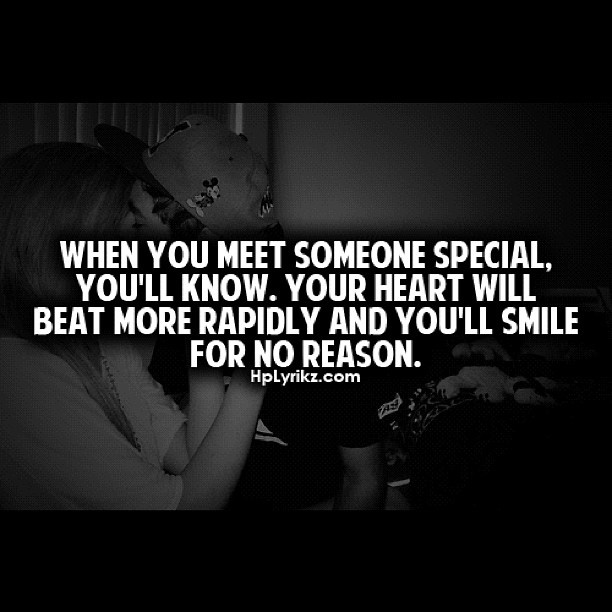 Meeting someone special