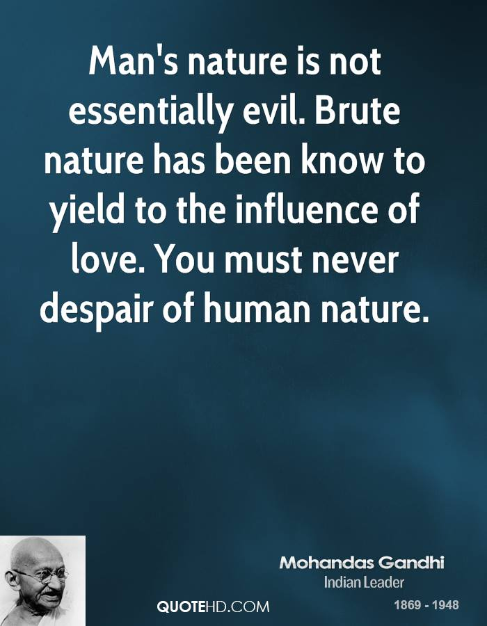quotes about human nature evil quotes