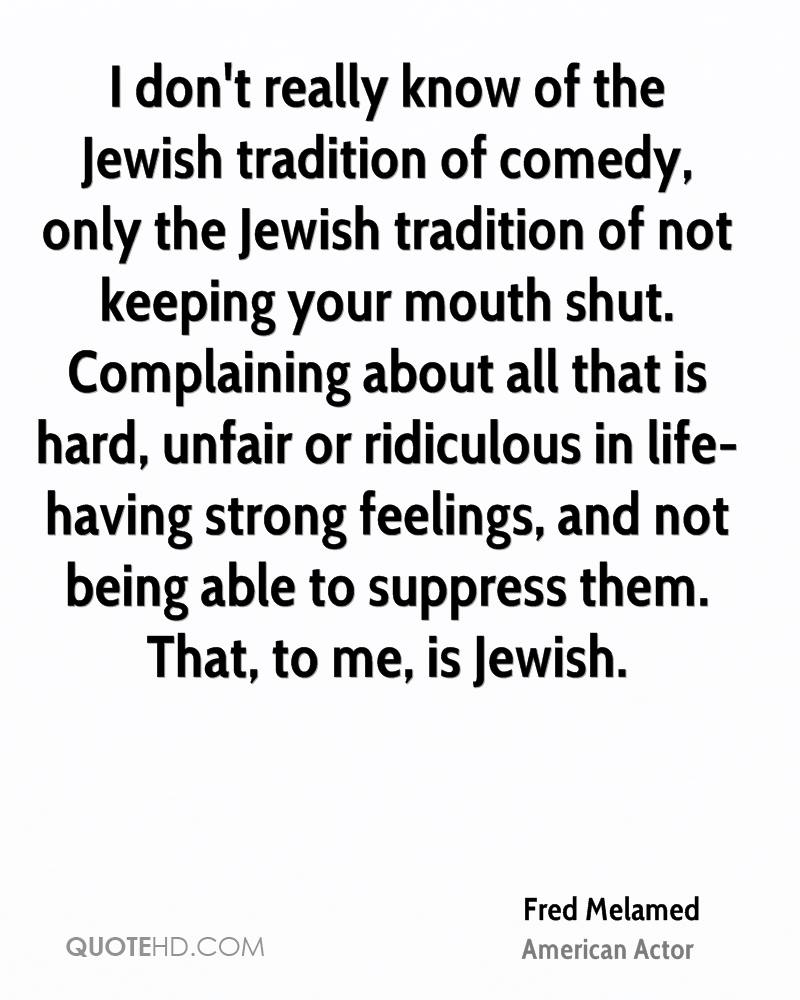 Quotes About Jewish Tradition