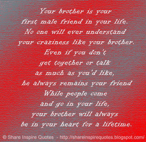 Quotes About Your Brother 60 Quotes Magnificent Quotes About Loving Your Brother