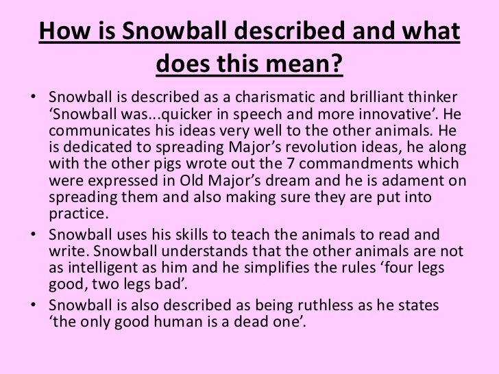 an analysis of squealers character in animal farm by george orwell