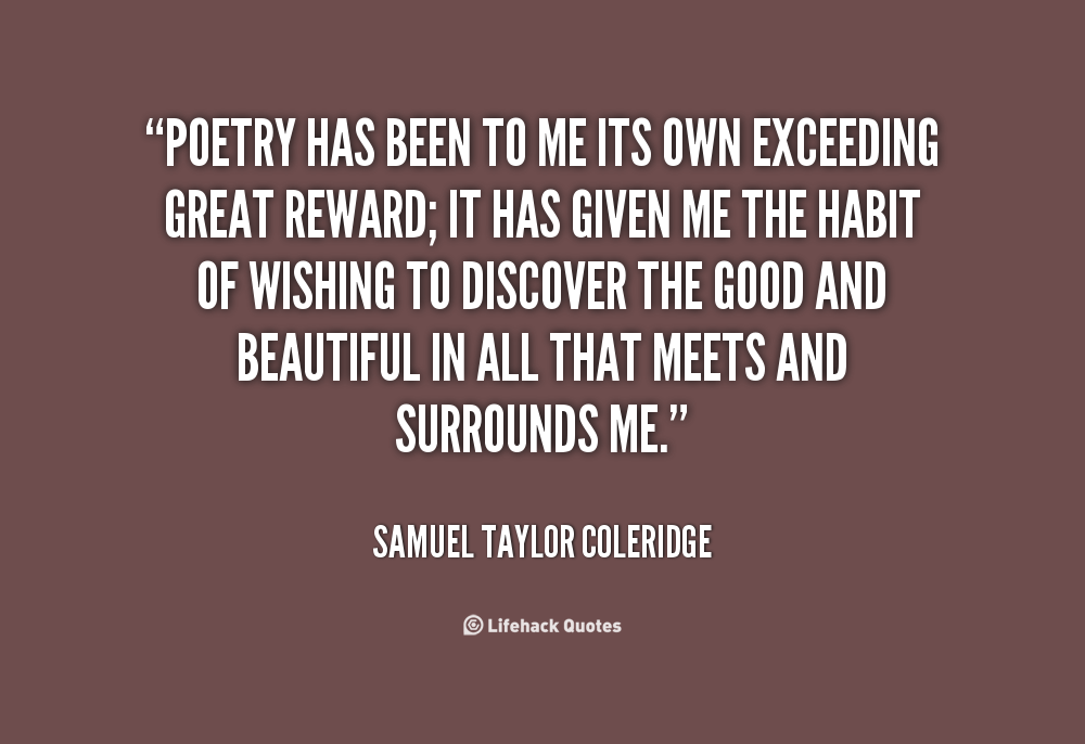 Quotes about Poetry coleridge 26 quotes