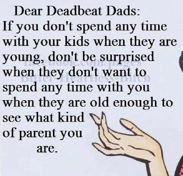 Quotes about Deadbeat parents (25 quotes)
