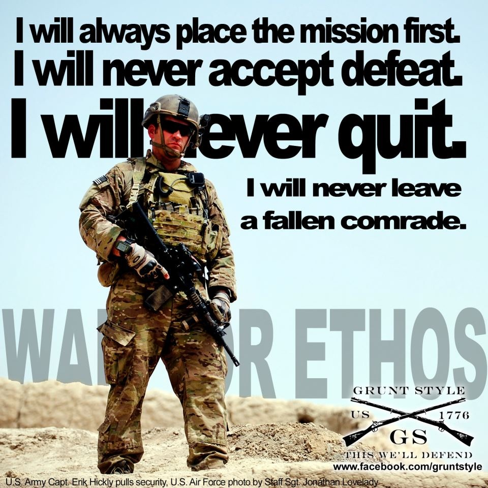Quotes About Warrior Ethos 25 Quotes