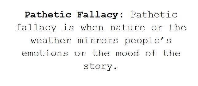 pathetic fallacy literary definition