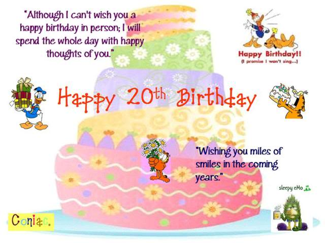 Quotes About 20th Birthday 29 Quotes