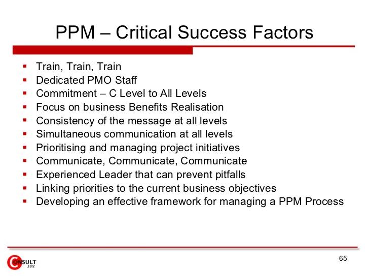 Business plan critical success factors