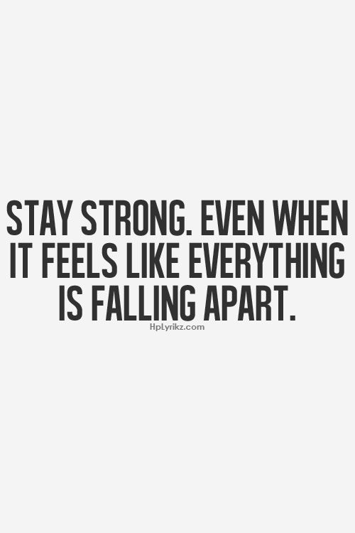 Feels Like Everything Is Falling Apart