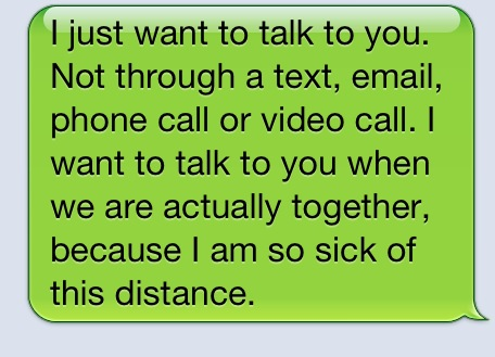 Quotes about Distance relationship (65 quotes)