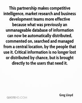 Quotes about Market intelligence (26 quotes)