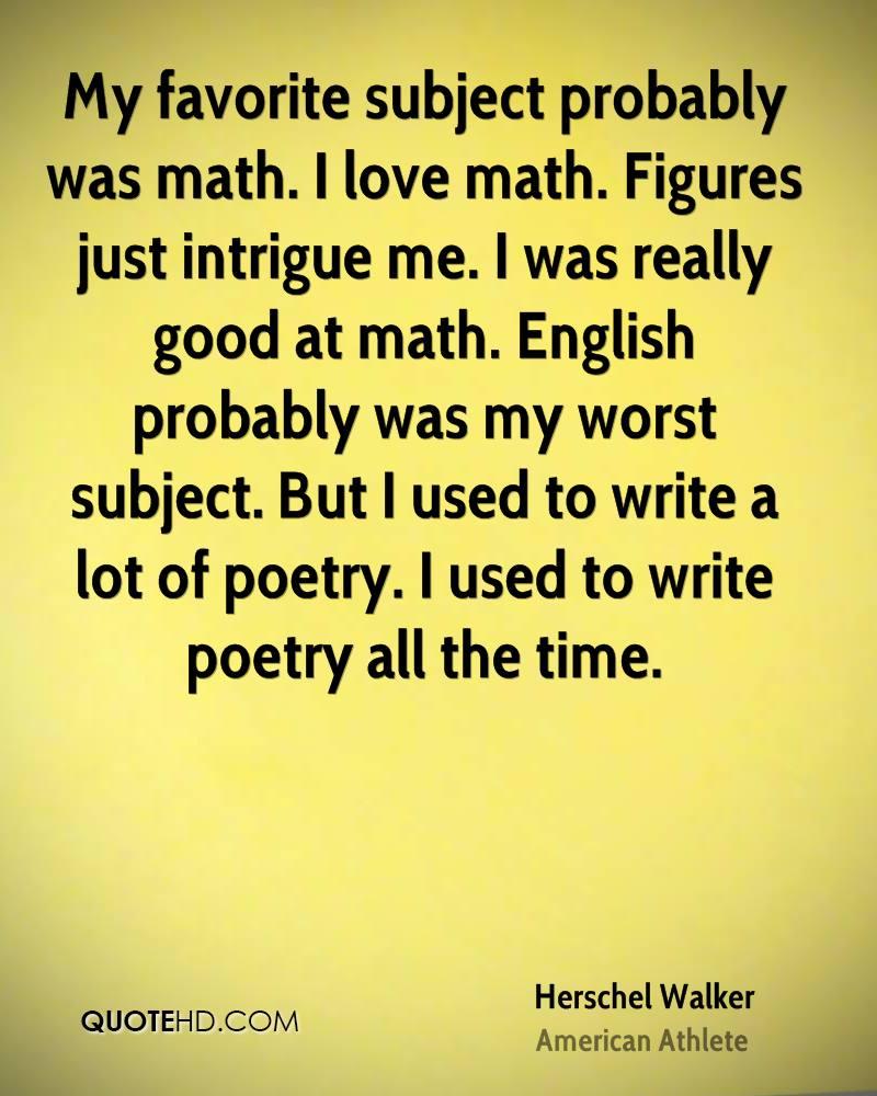 math my worst subject
