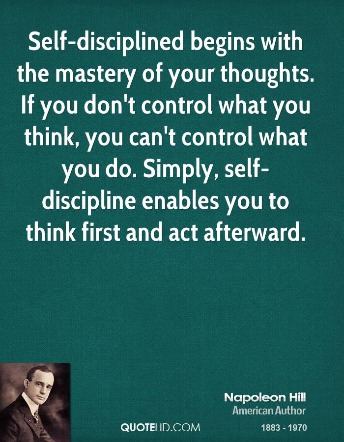 Quotes About Self Discipline 243 Quotes