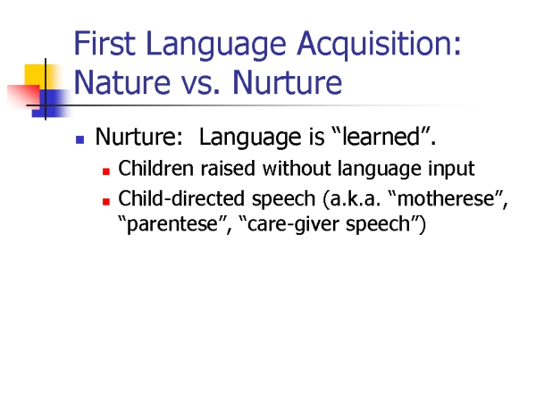 essay about language and nature