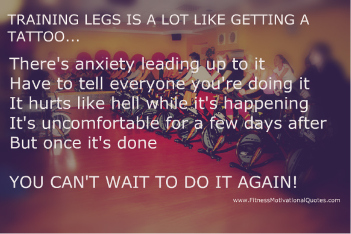 Quotes about Training legs (18 quotes)