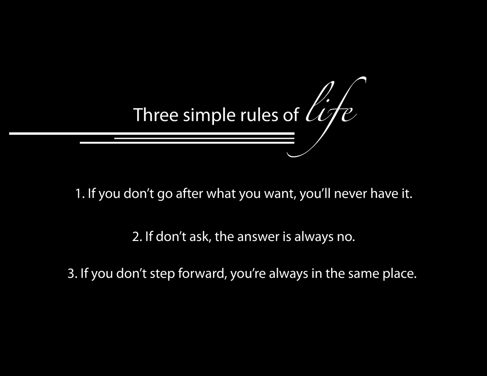 Quotes about Rules Of Life (3 quotes)