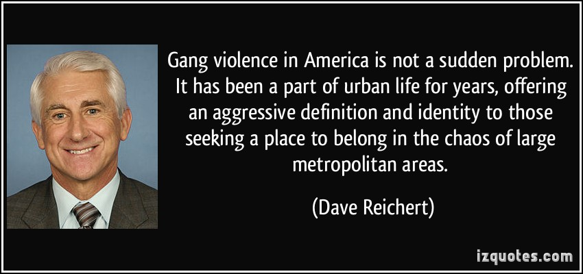 an analysis of gang violence in america