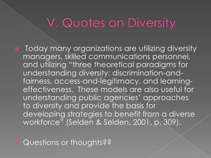 perceptions of diversity in the workforce Workforce wide diversity training is worth considering, and can have a positive effect on collaboration and inclusion your staff will learn to whilst diversity has never been just a compliance issue, there is legislation to enforce it in the uk, for example, it is illegal to discriminate against anyone because.