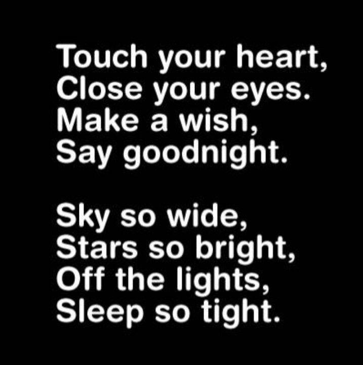 Night poems good sweet Heartfelt Goodnight