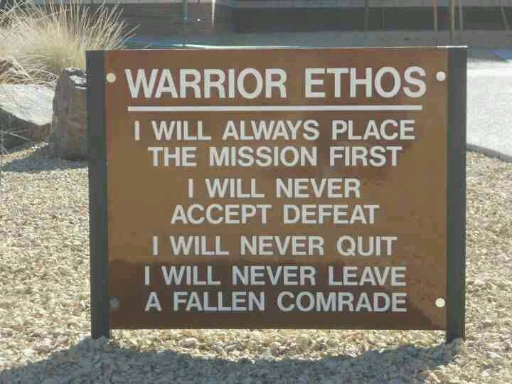 essays on the warrior ethos Free essays on prime examples of warrior ethos for students use our papers to help you with yours 1 - 30.