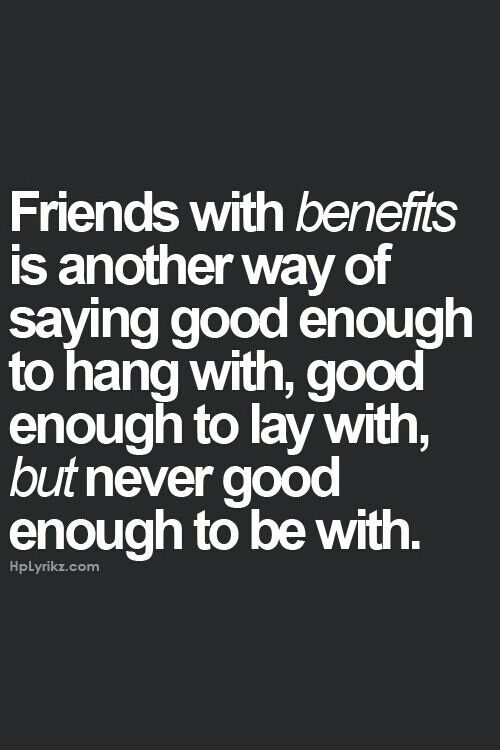 Friends with benefits relationship quotes