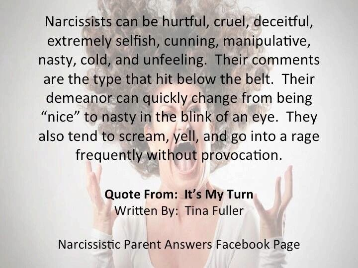 Being nice to a narcissist
