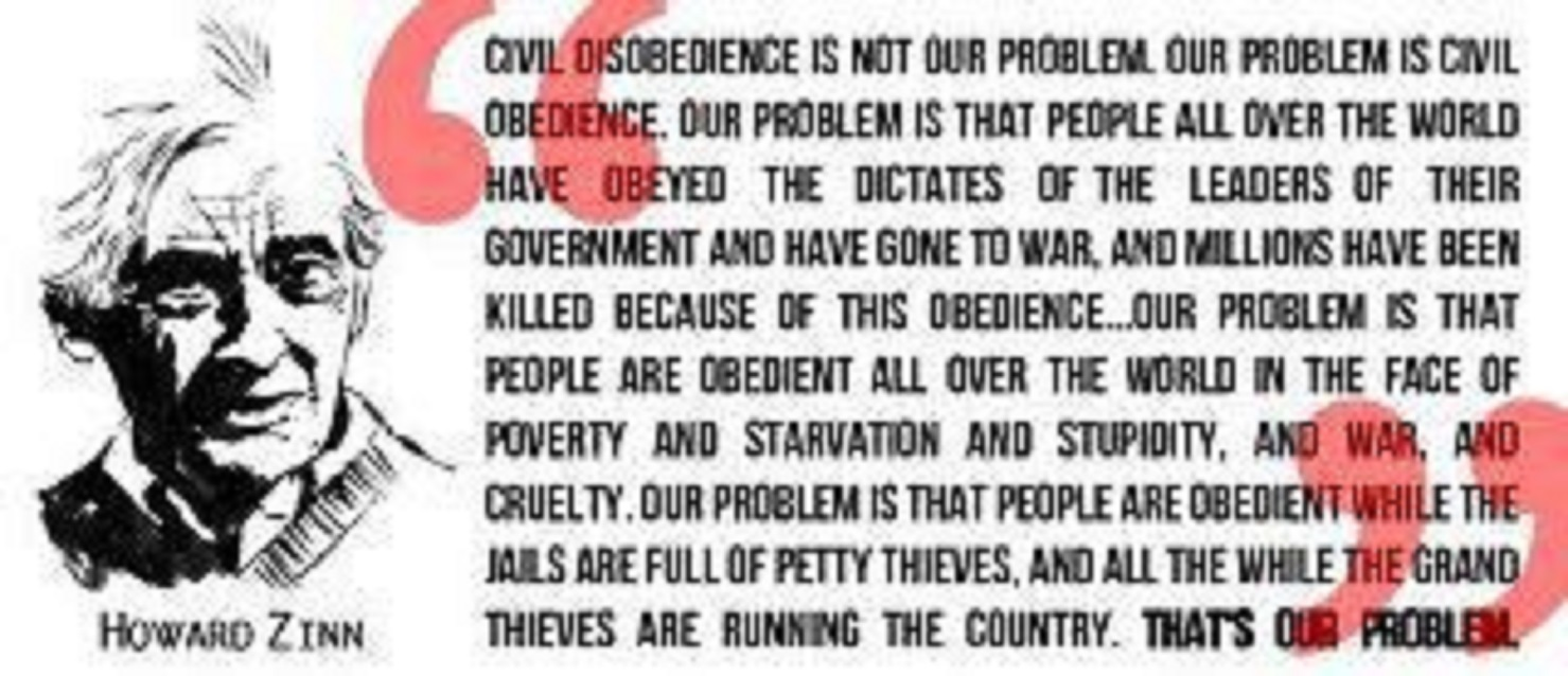 the underlying meaning of civil disobedience