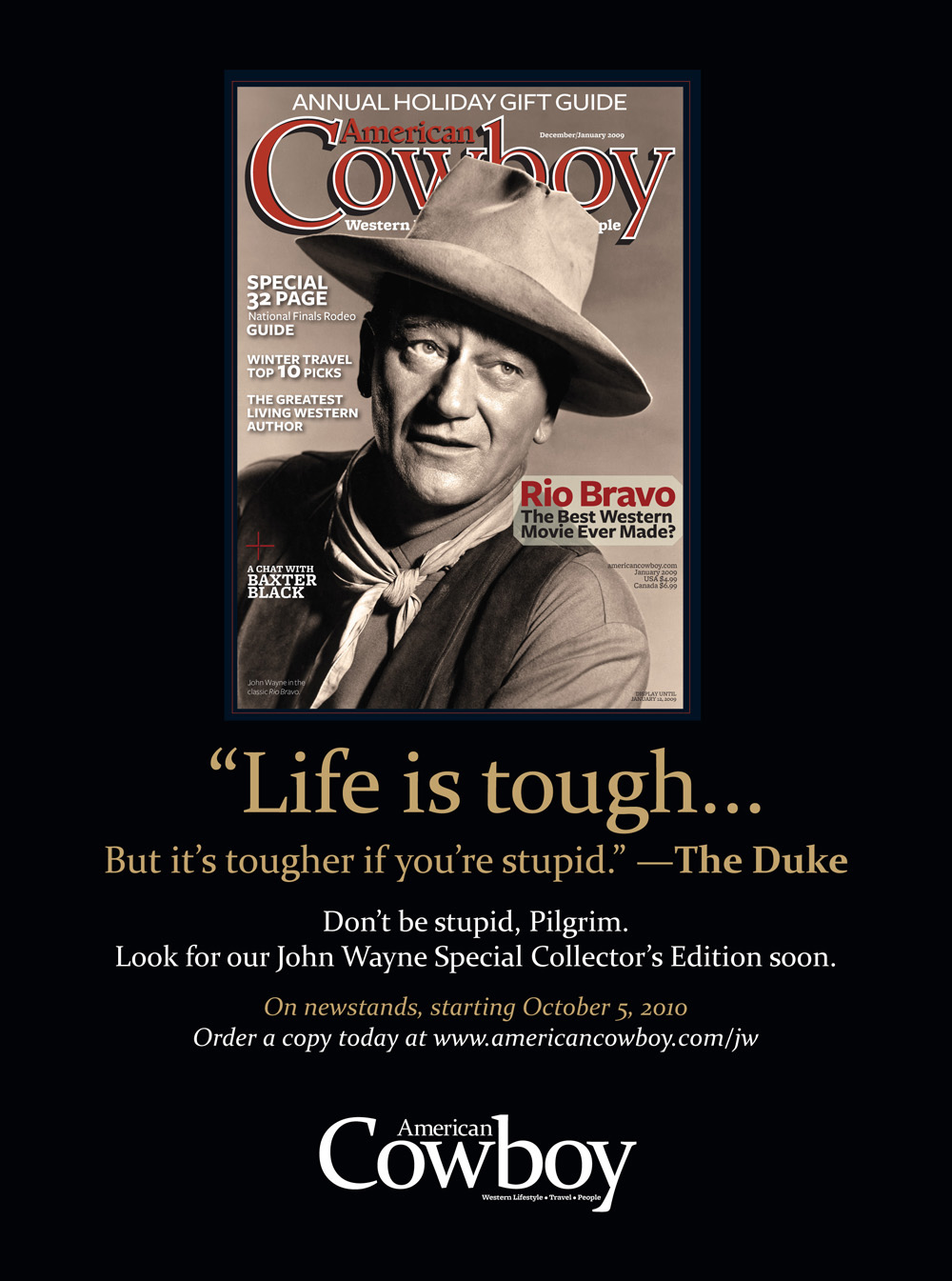 John Wayne Quote Life Is Hard Quotes About Cowboy Movie 36 Quotes