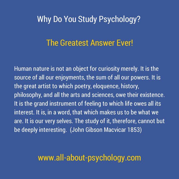 a study of psychology