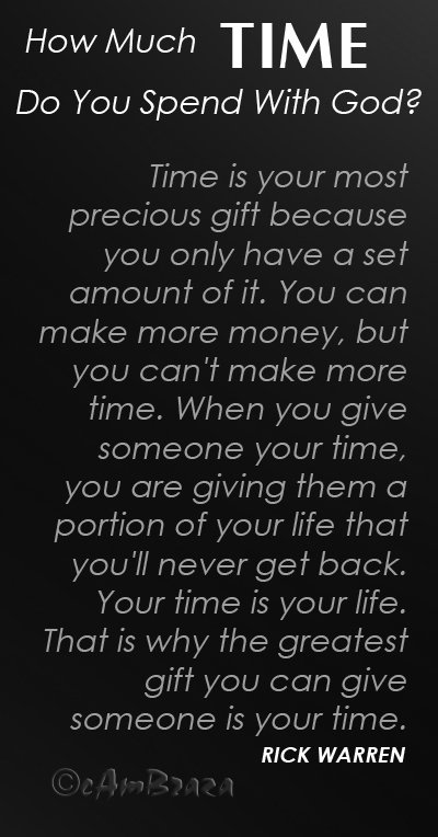 Quotes about Spending Time With God (32 quotes)