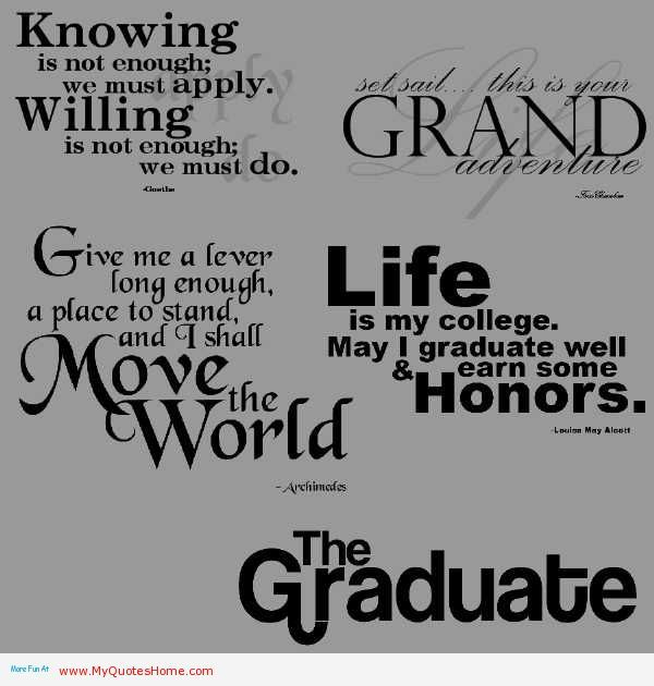 quotes about graduation from university quotes