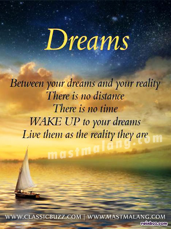 dream or reality essay Free essay: fantasy vs reality in a midsummer night's dream shakespeare weaves a common thread throughout most of his comedies, namely the theme of fantasy.