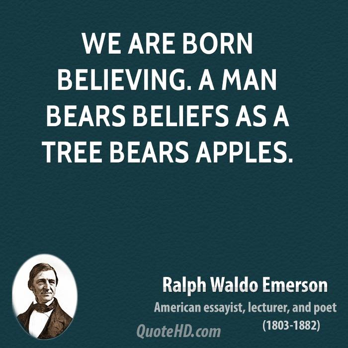 ralph waldo emersons beliefs on education in his essay education James baldwin and ralph waldo emerson provide their thoughts on this in an historical perspective to bring the idea to modern times, students will read david foster wallace's 2005 commencement speech to kenyon college (as published in a collection of essays called this is water) this will be due for thursday, since tomorrow we will continue.