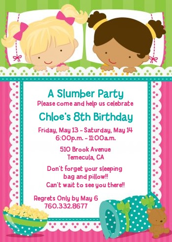 Free birthday slumber party invitations quotes filmwisefo