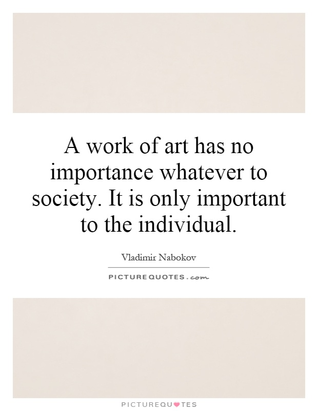 importance of art in society