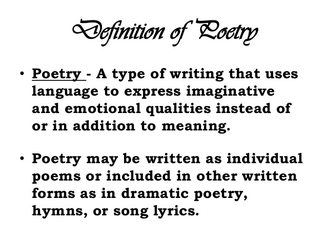 the definition of lyric poetry as a poetry category When a poet writes an emotional, rhyming poem, she can call it a lyric poem.