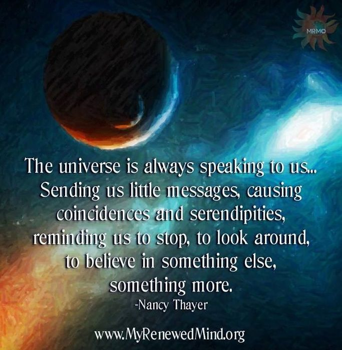 Image result for quotes about signs from the universe
