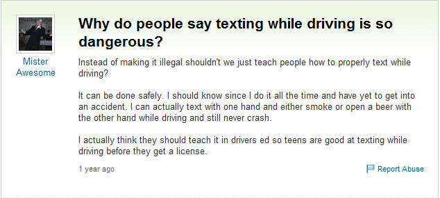 should texting while driving be made illegal