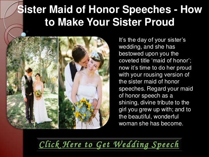 Maid Of Honor Toast Examples Wedding Tips Short Sches Midway Media