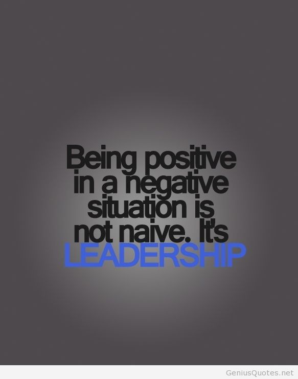 Quotes about being negative