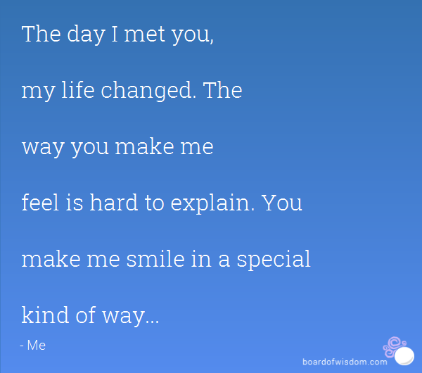 Quotes about Make Me Feel Special (24 quotes)