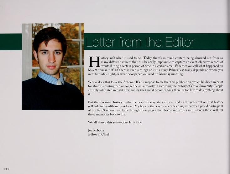 Amazing Letter From The Editors