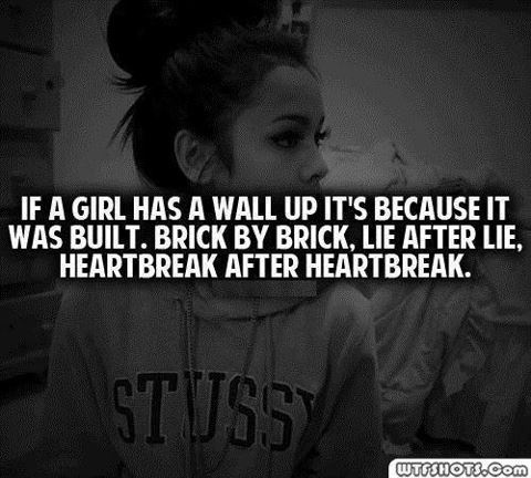 Quotes about Building walls up (20 quotes)