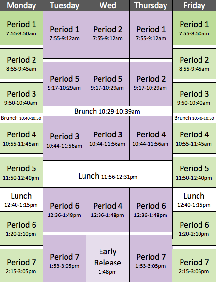 middle school block schedule template april onthemarch co